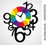 creative clock face design... | Shutterstock .eps vector #164410253