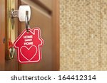 key with label home  | Shutterstock . vector #164412314
