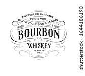 ornate bourbon whiskey logo in...   Shutterstock .eps vector #1644186190
