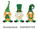 st. patrick's day gnomes with... | Shutterstock .eps vector #1644201733