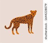 cartoon cheetah or leopard...   Shutterstock .eps vector #1644228079