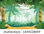 tropical rain forest cartoon... | Shutterstock .eps vector #1644228859