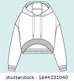 hoodie sweatshirt design...   Shutterstock .eps vector #1644231040