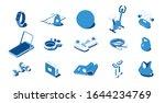 home sport workout equipment... | Shutterstock .eps vector #1644234769