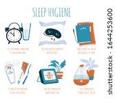 sleep hygiene tips   alarm...   Shutterstock .eps vector #1644253600