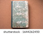 Small photo of a book with traces of aging, decrepitude. bookkeeping.