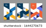 front and back cover of a... | Shutterstock .eps vector #1644270673