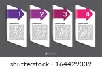 vector info graphic tabs  ... | Shutterstock .eps vector #164429339