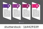 vector info graphic tabs  ...   Shutterstock .eps vector #164429339