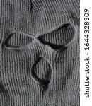 Small photo of Close-up. Black thief hat, balaclava. Bandit Mask.