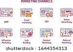 marketing channels color line...