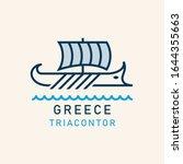 ancient greek ship. ancient...   Shutterstock .eps vector #1644355663