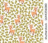 watercolor cute nursery naive... | Shutterstock . vector #1644356080