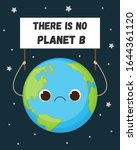 cute earth with sad face...   Shutterstock .eps vector #1644361120