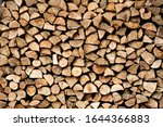 Stacked Firewood Pile Air Dried ...