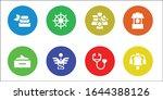 wellness icon set. 8 filled... | Shutterstock .eps vector #1644388126