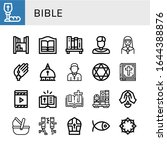 Bible Icon Set. Collection Of...