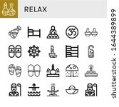 relax icon set. collection of... | Shutterstock .eps vector #1644389899