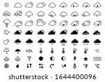 weather icons set. meteorology. ... | Shutterstock .eps vector #1644400096