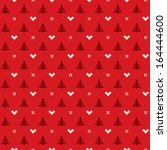 christmas pattern with trees | Shutterstock .eps vector #164444600