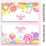 set of candy and sweet shop...   Shutterstock .eps vector #1644453436