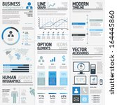 business infographic elements... | Shutterstock .eps vector #164445860
