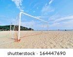 goal post on the beach | Shutterstock . vector #164447690