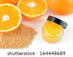 natural orange sugar lip scrub... | Shutterstock . vector #164448689
