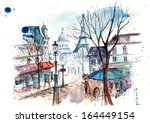 illustration of the city  | Shutterstock . vector #164449154
