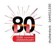 80 year anniversary vector...   Shutterstock .eps vector #1644511330