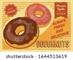 doughnut signage poster rustic... | Shutterstock .eps vector #1644513619