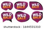 set wild sale bubble banners... | Shutterstock .eps vector #1644531310