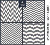 Seamless chevron pattern set | Shutterstock vector #164453864
