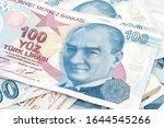turkish  one hundred lira... | Shutterstock . vector #1644545266