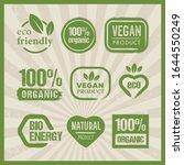 organic natural eco vegan... | Shutterstock .eps vector #1644550249