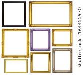 antique frame isolated on white ... | Shutterstock . vector #164455970