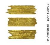golden glitter brushstrokes set ... | Shutterstock .eps vector #1644565933
