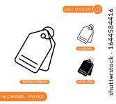 sale tag icons set vector...