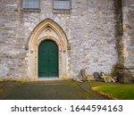 Entrance Door On A Church In...