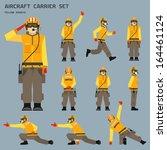 Aircraft carrier shooter signals - stock vector
