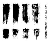 set of grunge brush strokes.... | Shutterstock . vector #164461424