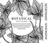 black and white botanical... | Shutterstock .eps vector #1644618130