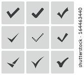 vector black confirm icons set | Shutterstock .eps vector #164463440