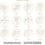 zodiac signs collection in... | Shutterstock .eps vector #1644636886