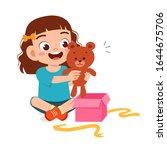 Happy Cute Little Kid Girl Ope...