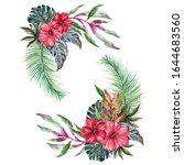 paradise beach tropical party... | Shutterstock . vector #1644683560
