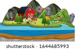 background scene of farmers and ...   Shutterstock .eps vector #1644685993