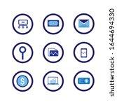 fin tech icon set include... | Shutterstock .eps vector #1644694330