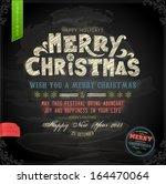 vintage christmas card design.... | Shutterstock .eps vector #164470064