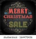 vintage christmas card design.... | Shutterstock .eps vector #164470436